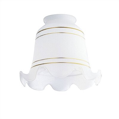 2.25 Ceiling Fan Fitter White Crimp with Gold Bands Shade (Set of 8)