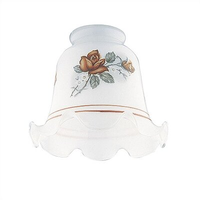2.25 Ceiling Fan Fitter Rust Floral Crimp Shade (Set of 8)
