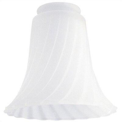2.25 Ceiling Fan Fitter Satin Swirl Shade (Set of 7)