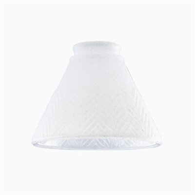 2.25 Ceiling Fan Fitter White Scavo Feather Cone Shade (Set of 6)