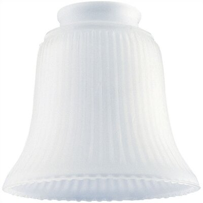 2.25 Ceiling Fan Fitter Frosted Ribbed Shade (Set of 12)