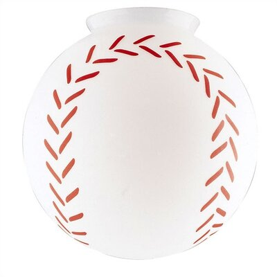 4 Ceiling Fan Fitter Baseball Globe Shade (Set of 4)