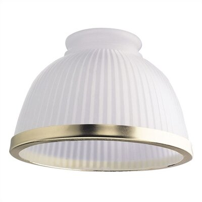 3.25 Ceiling Fan Fitter Frosted Ribbed Bowl Shade with Gold Trim (Set of 5)