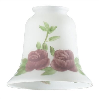 2.25 Ceiling Fan Fitter Bell Shade with Rose Design (Set of 3)