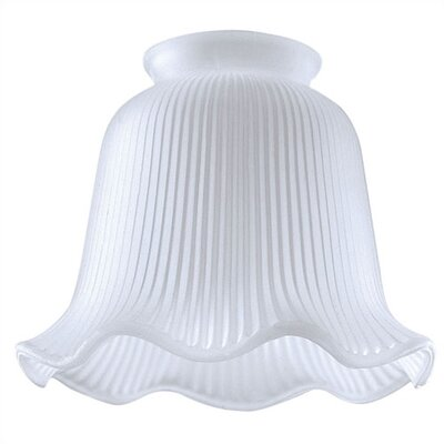 2.25 Ceiling Fan Fitter Satin Ribbed Shade (Set of 10)