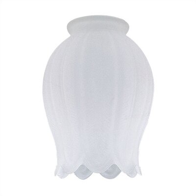 2.25 Ceiling Fan Fitter Satin Crystal Shade (Set of 7)