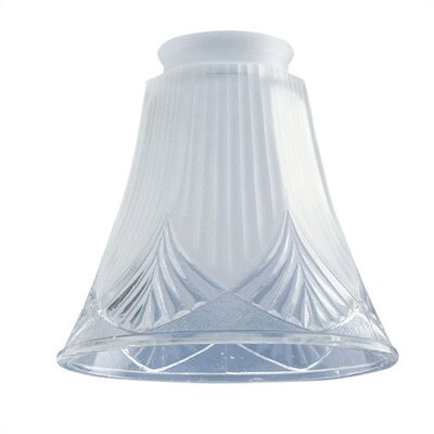 2.25 Ceiling Fan Fitter Frosted Shade with Clear Shell (Set of 10)