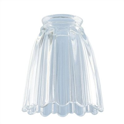 2.25 Ceiling Fan Fitter Clear Pleated Shade (Set of 11)