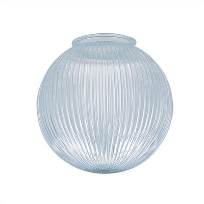 4 Ceiling Fan Fitter Clear Prismatic Ball Shade (Set of 4)