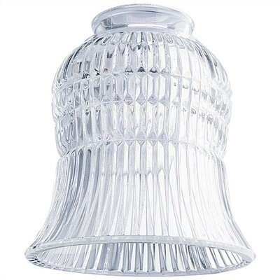2.25 Ceilng Fan Fitter Clear Ribbed Shade (Set of 9)