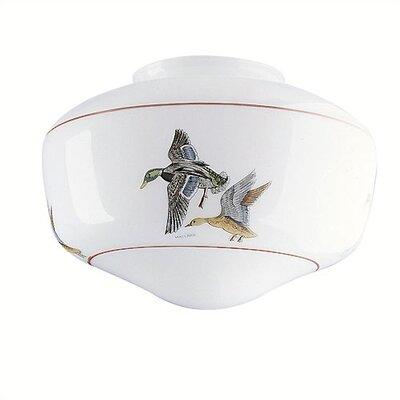4 Ceilng Fan Fitter Duck Design Schoolhouse Shade (Set of 6)