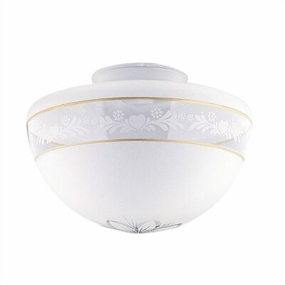 3.25 Ceilng Fan Fitter Shade in Frost with Gold Bands (Set of 6)
