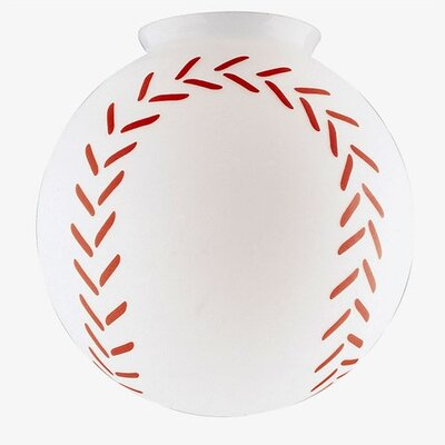 3.25 Ceilng Fan Fitter Baseball Globe Shade (Set of 6)