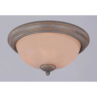 Spring Valley 3-Light Flush Mount Size: 6 3/4 H x 15 Dia.