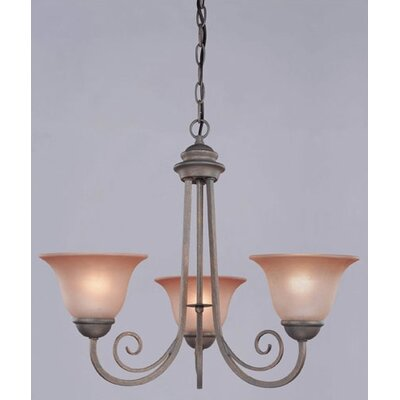 Spring Valley 3-Light Shaded Chandelier