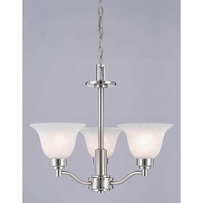 Churchville 3-Light Shaded Chandelier