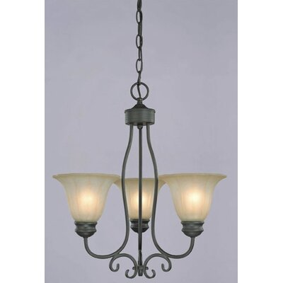 Giorgio  Chandelier in Weathered Bronze