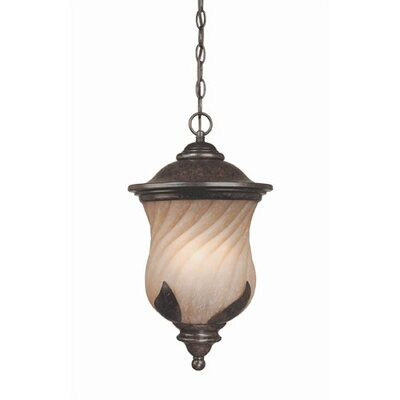 Byberry  Outdoor Hanging Lantern in Marbleized Bronze