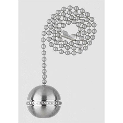 Ball Ceiling Fan Pull Chain in Brushed Nickel (Set of 13)