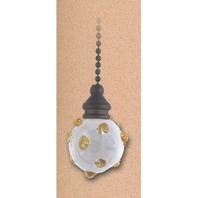 Details Clear Glass Orb and Amber Swirl Ceiling Fan Pull Chain (Set of 5)