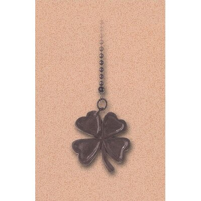 Details Four Leaf Clover Ceiling Fan Pull Chain in Antique Bronze (Set of 6)