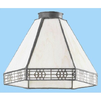Cream and Brown Glass Pendant Shade (Set of 2)