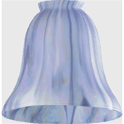Dark Blue Satin Ceiling Fan Light Shade (Set of 2)