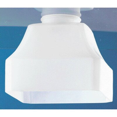 White Cube Ceiling Fan Light Shade (Set of 5)