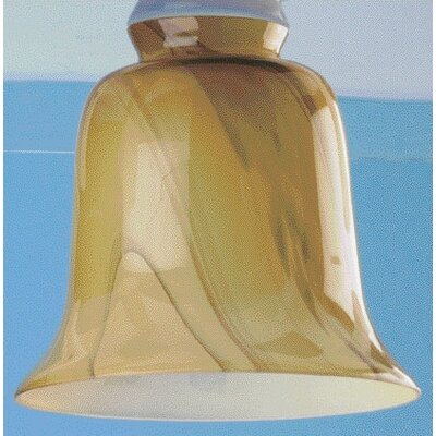 Frosted Amber Swirl Ceiling Fan Light Shade (Set of 4)