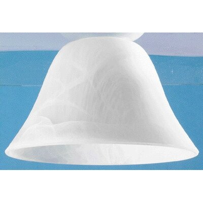 Neckless Ceiling Fan Light Shade in Frosted White Swirl (Set of 4)