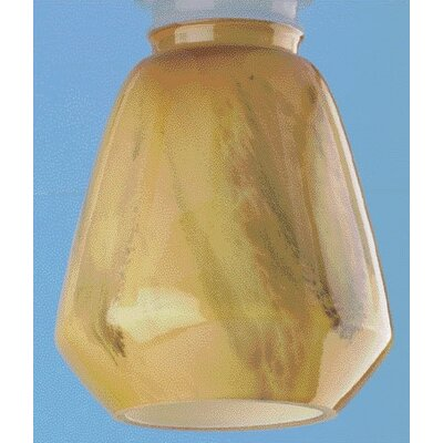 Amber and Brown Ceiling Fan Light Shade with Lip (Set of 5)