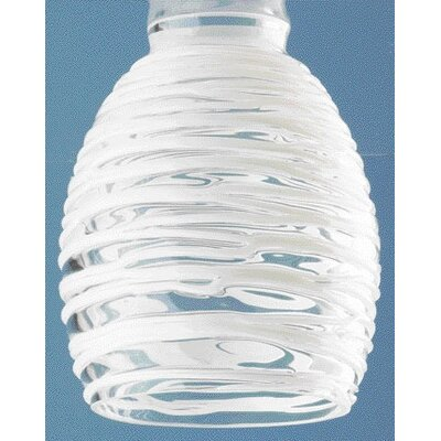 Clear Ceiling Fan Light Shade with White Rope (Set of 4)