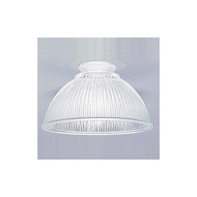 Clear Prismatic Ceiling Fan Light Shade (Set of 10)