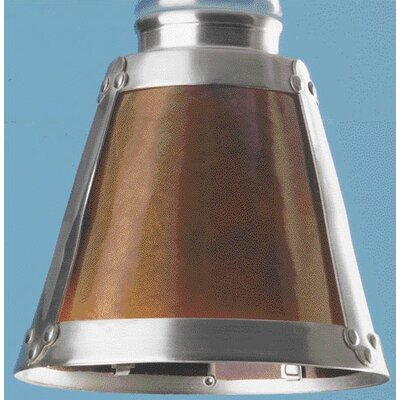 Mica Glass Ceiling Fan Light Shade in Satin Nickel (Set of 4)