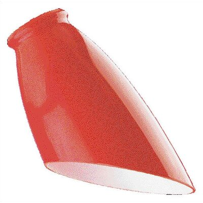 Red Angled Design Ceiling Fan Light Shade (Set of 8)