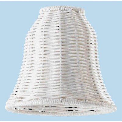 White Wicker Ceiling Fan Light Shade (Set of 4)