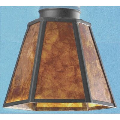 Mica Glass Ceiling Fan Light Shade in Amber Black (Set of 3)