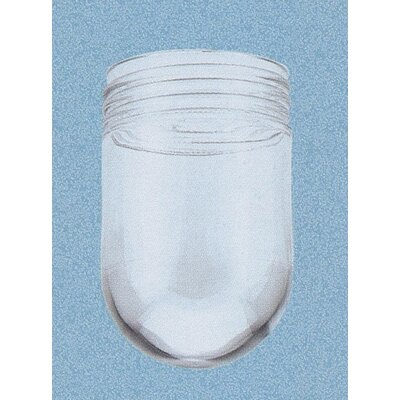 Vapor Proof Clear Glass Light Shade with Threaded Neck (Set of 12)