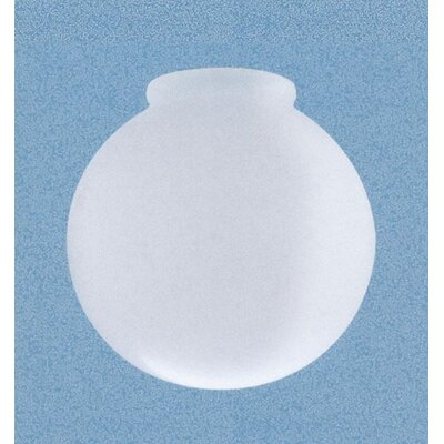 White Glass Light Shade with Threaded Neck (Set of 5)