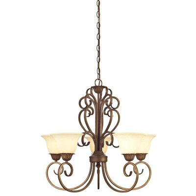 Regal Springs 5-Light Shaded Chandelier