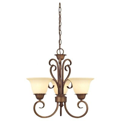 Regal Springs 3-Light Shaded Chandelier
