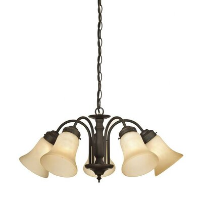 Redmon 5-Light Shaded Chandelier