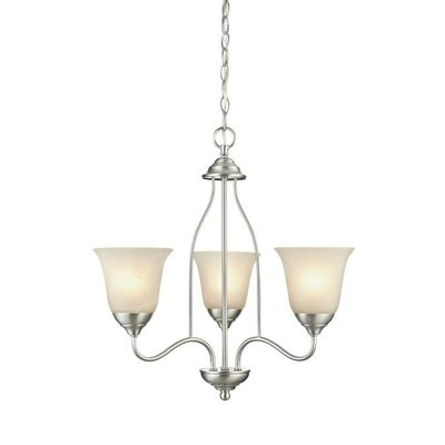 Clinton 3-Light Shaded Chandelier