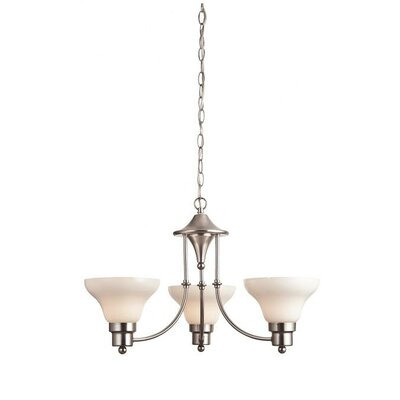 Swanstone 3-Light Shaded Chandelier