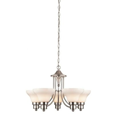 Swanstone 5-Light Shaded Chandelier
