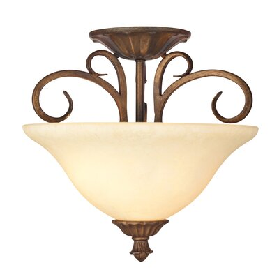 Regal Springs 2-Light Semi-Flush Mount