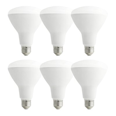 11W E26/Medium LED Light Bulb Pack of 6
