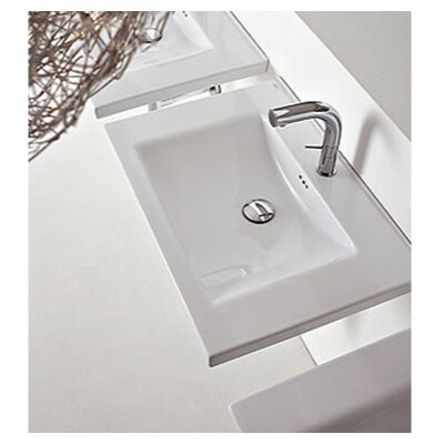 Kloc Ceramic 30 Wall Mount Bathroom Sink with Overflow
