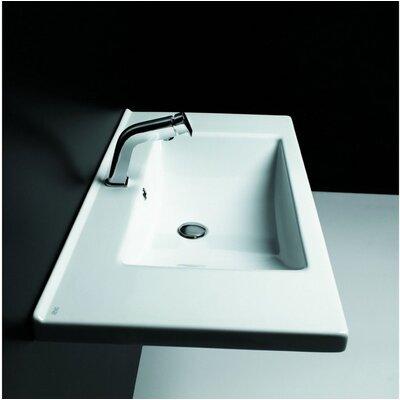Kloc Ceramic 37 Wall Mount Bathroom Sink with Overflow