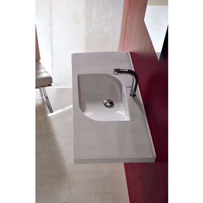 Play Ceramic 41 Wall Mount Bathroom Sink with Overflow